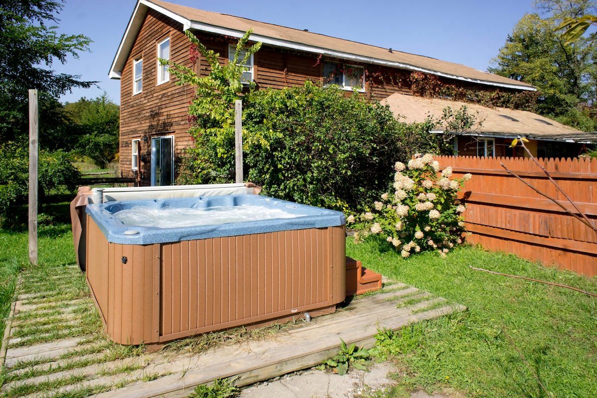 Hot Tub, just outside your door.