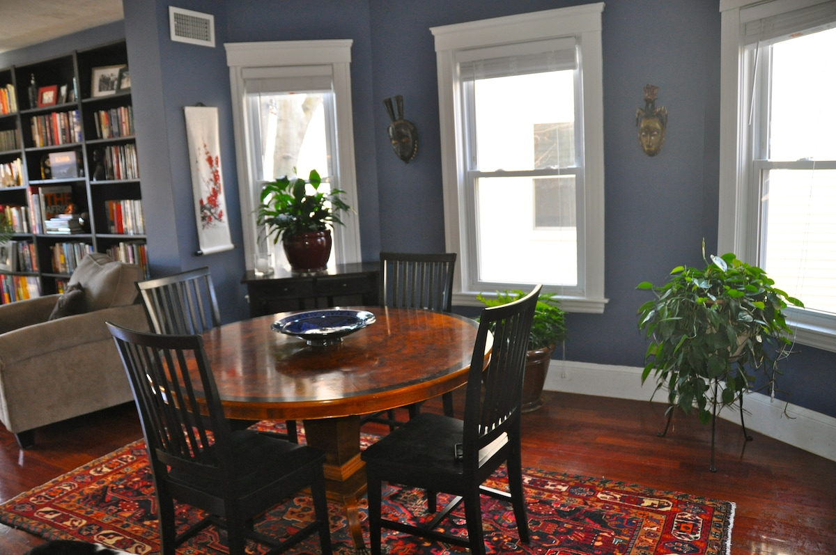 Dining room with seating for five