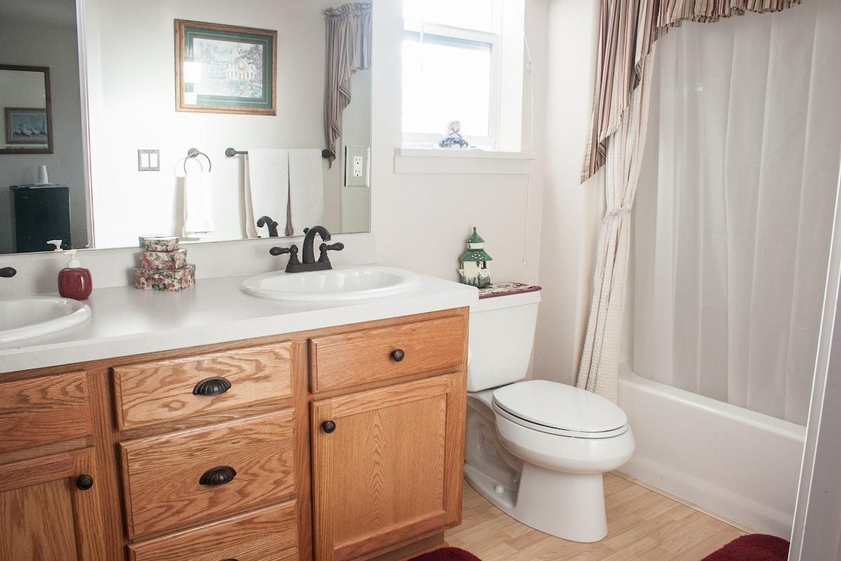 Master Bathroom ~ Double Sinks ~ (Walk-in Closet not shown)