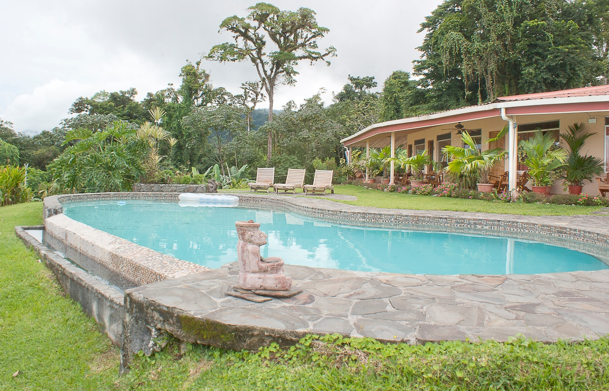 Pool  in front of the Main House area.