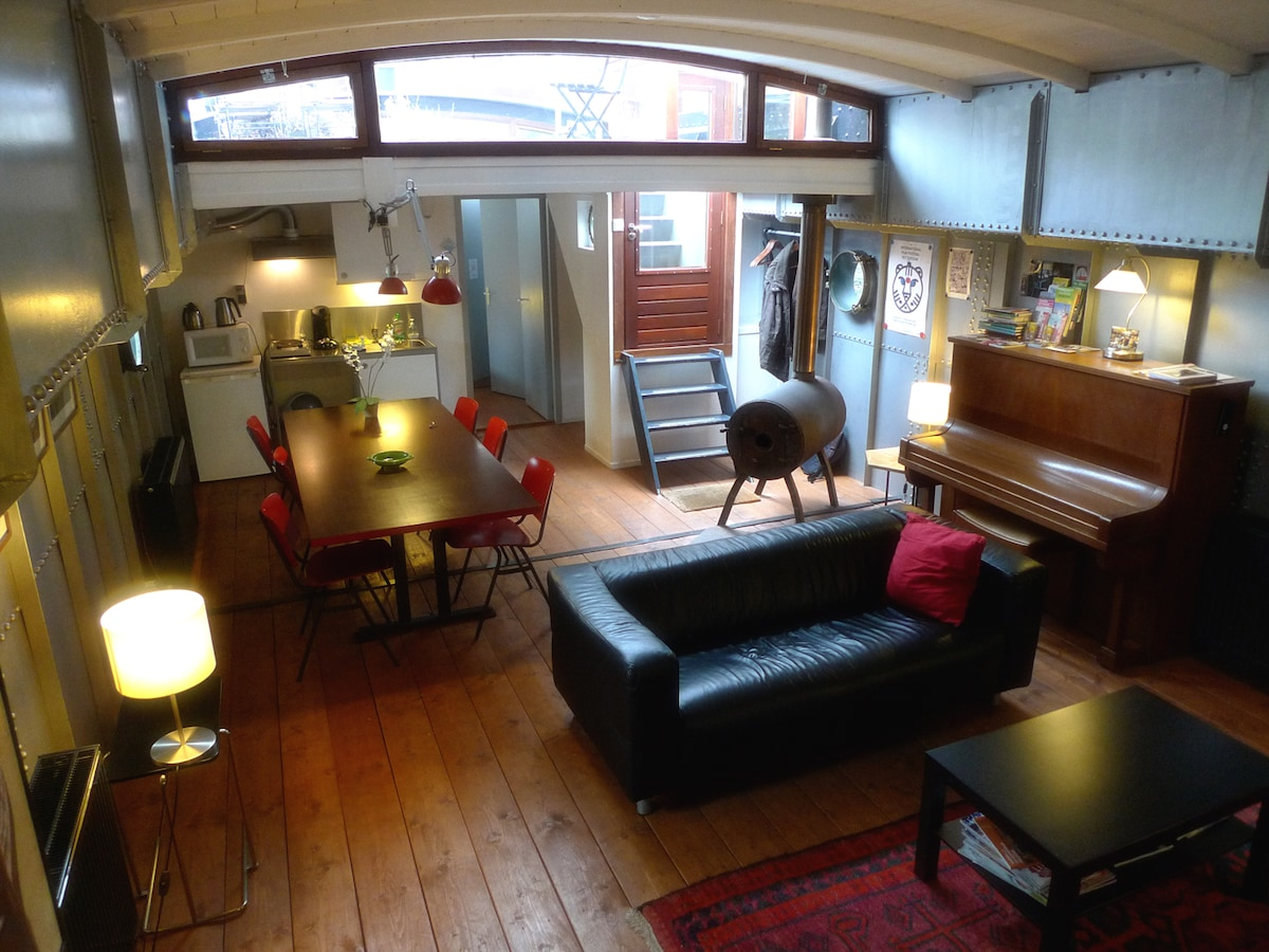 Houseboat Rotterdam Centre 2-6 pers
