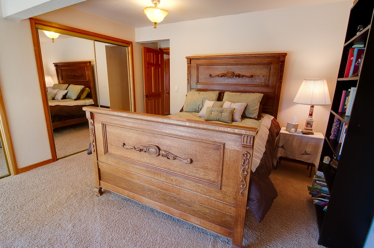Antique Bed Frame with a great mattress