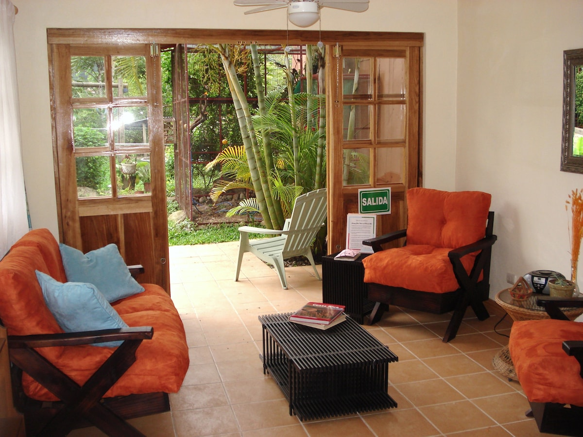 Open the doors to enjoy the birdsongs of Costa Rica morning and afternoon....
