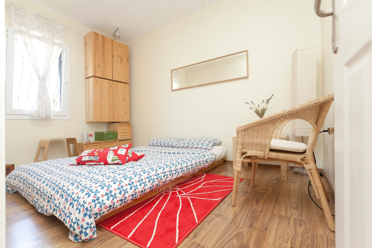 Bedroom- it can be designed as double or seperate beds according to the needs of the guests