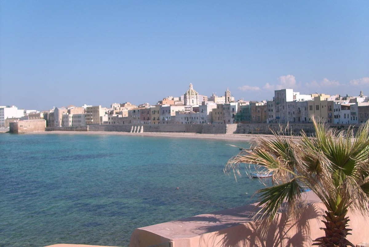 Trapani, special sunny day. North seafront