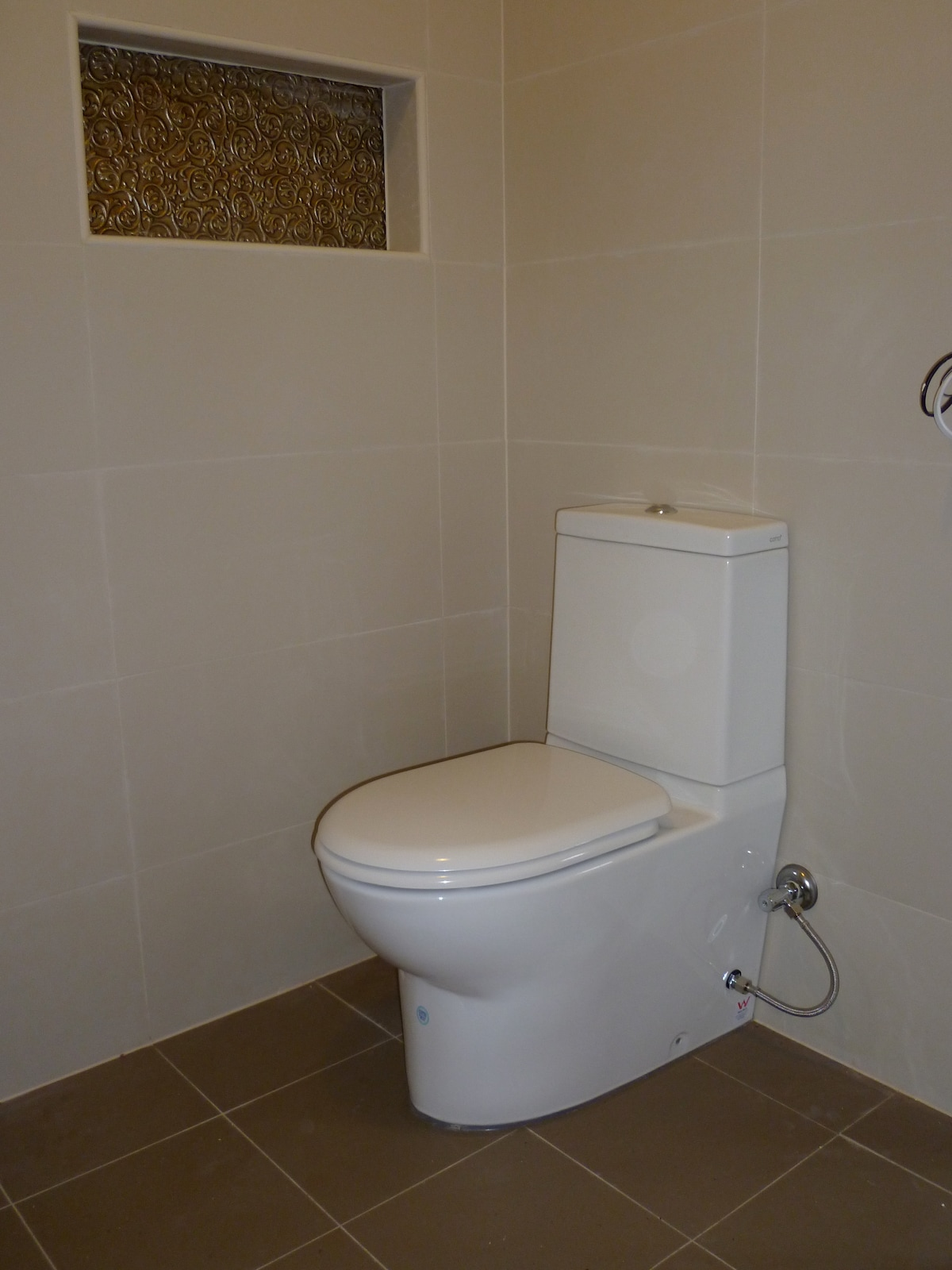 Soft close toilet lid in your warm, private ensuite bathroom.
