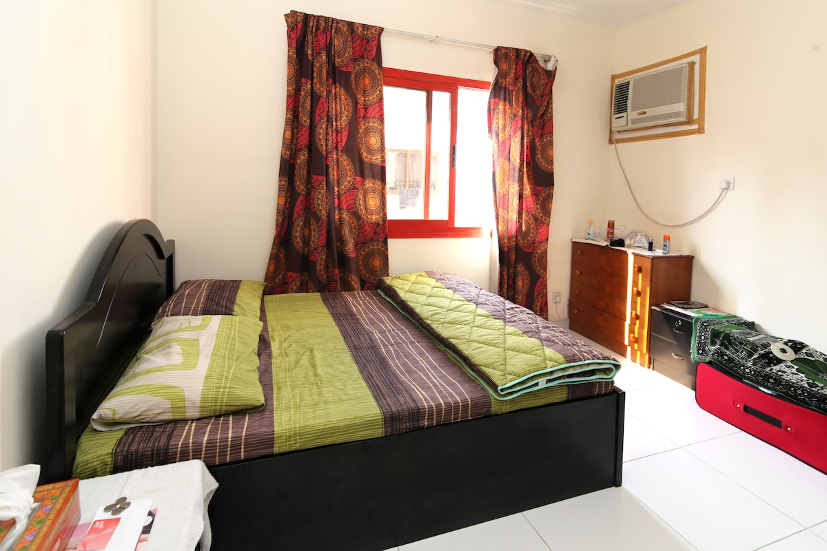 Plenty of light in your room and throughout the house. Ample storage space and a comfortable queen size bed that can accommodate 2 adults easily