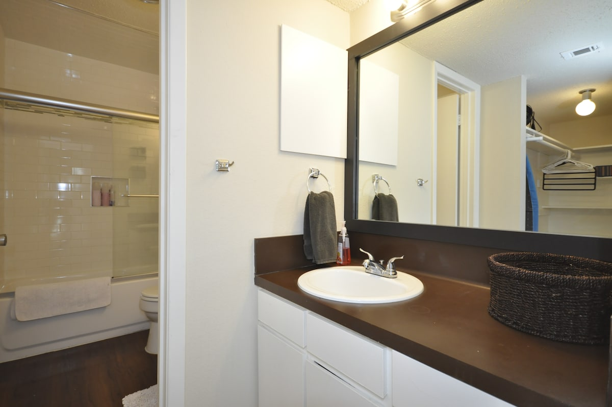Private vanity in master bedroom!