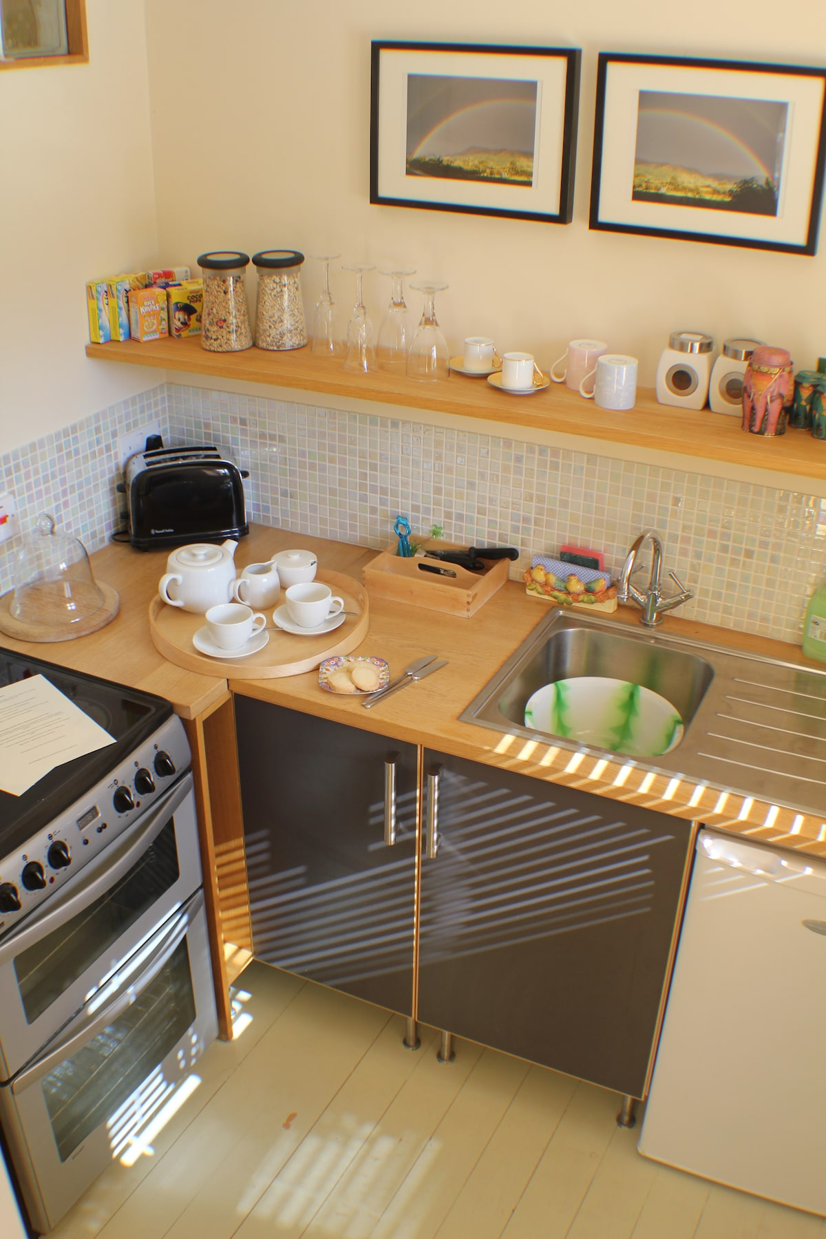 Private kitchen with cooker, fridge and tea/coffee making facilities