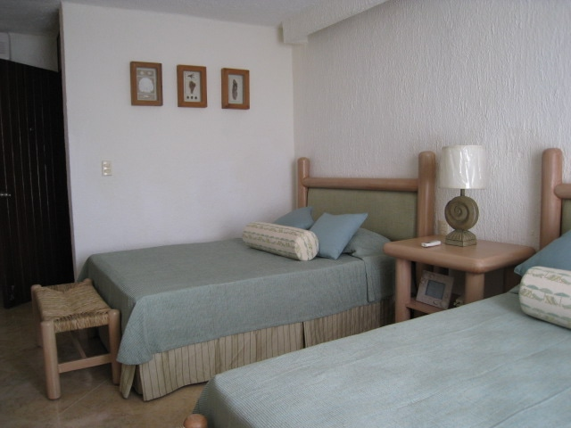 2 Double  Beds in the Lagoon Side Unit