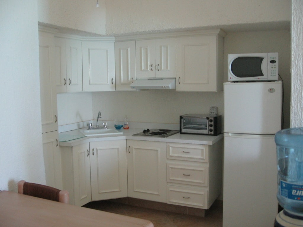 Fully Equipped Kitchenette in the Ocean Front Unit