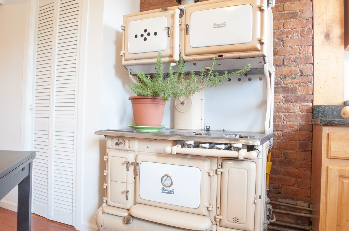 Coal/gas stove, but you'll be using an electric hot plate if you wanna cook.