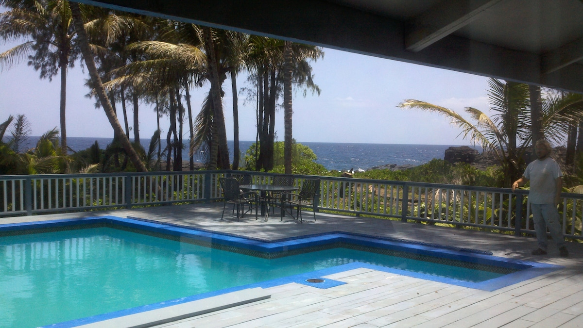Dine seaside on the large poolside deck! See WHALES and Dolphins TOO in winter/spring.