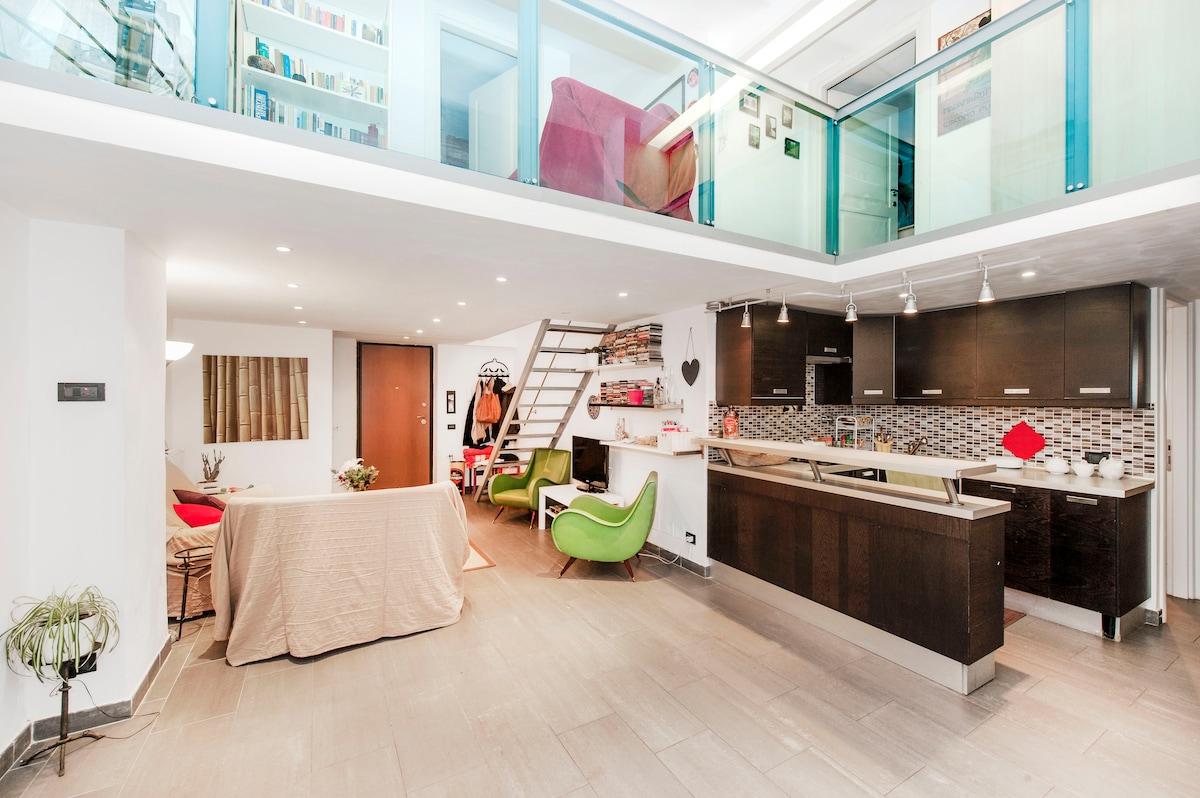 Amazing loft  with private bathroom