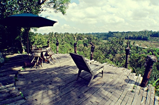Our guests can relax on the estate decking and admire the all encompassing view