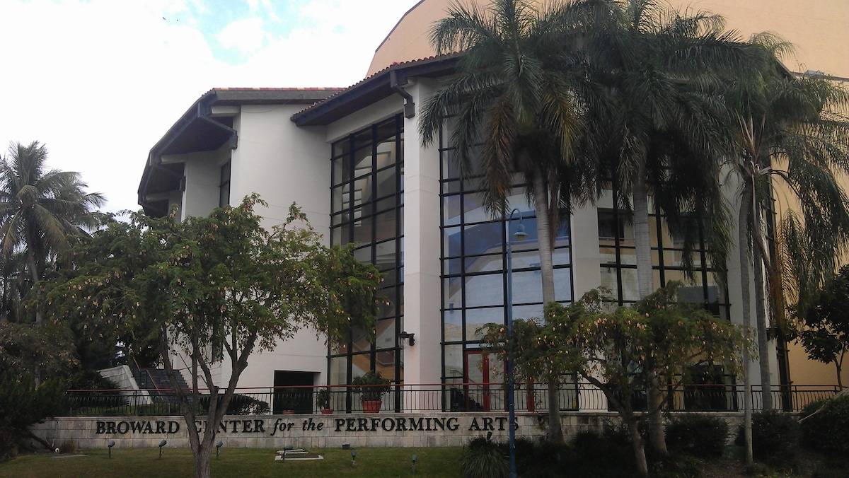 Broward Center of the Performing Arts is very close - a 15 minute walk.