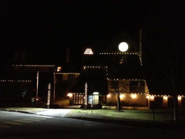 Mountain Green Resort at night