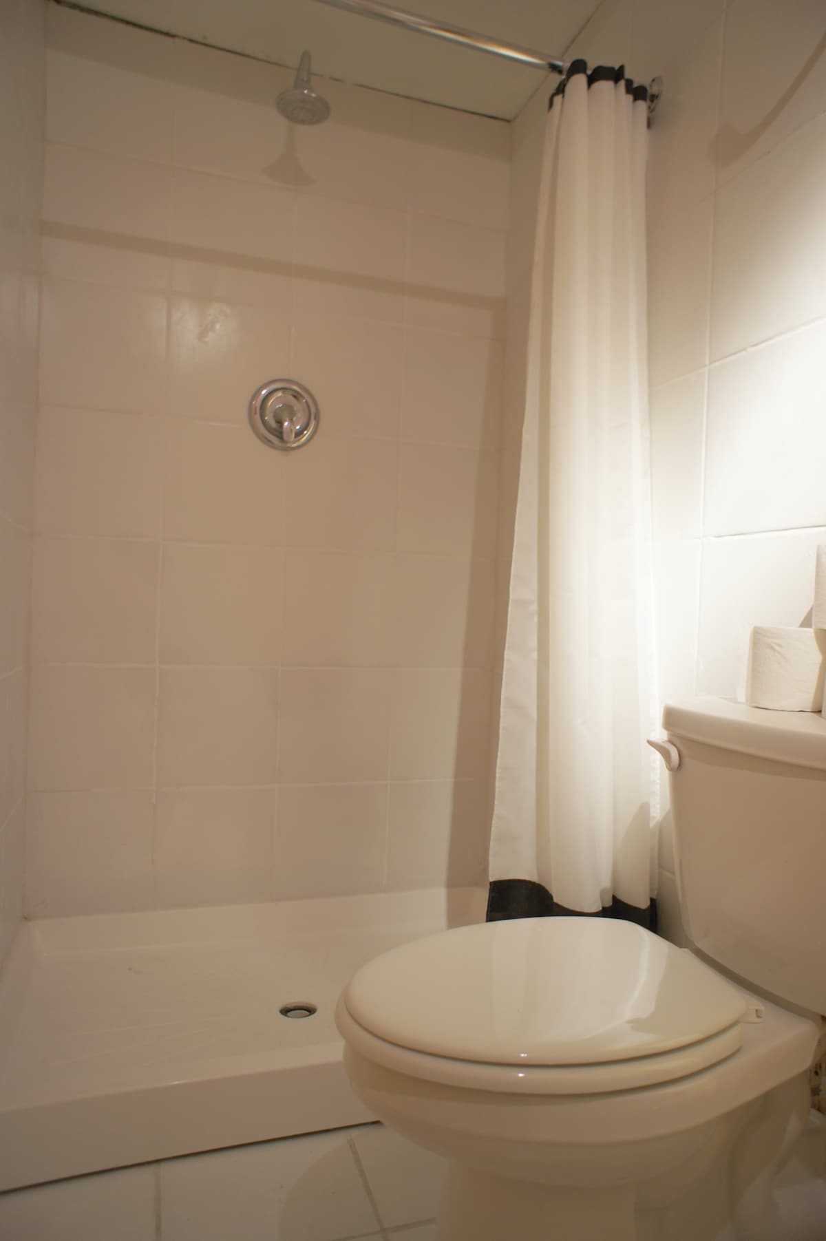 Newly built bathroom, towels provided.