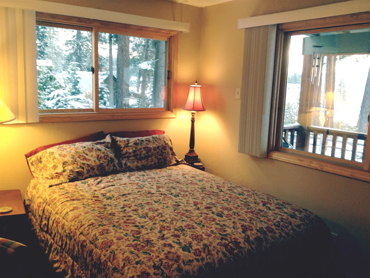 Master Bedroom window on right looks out to Lake Tahoe