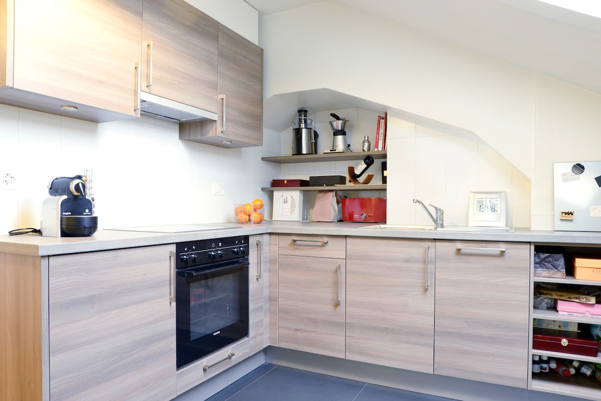 ...New and modern kitchen...