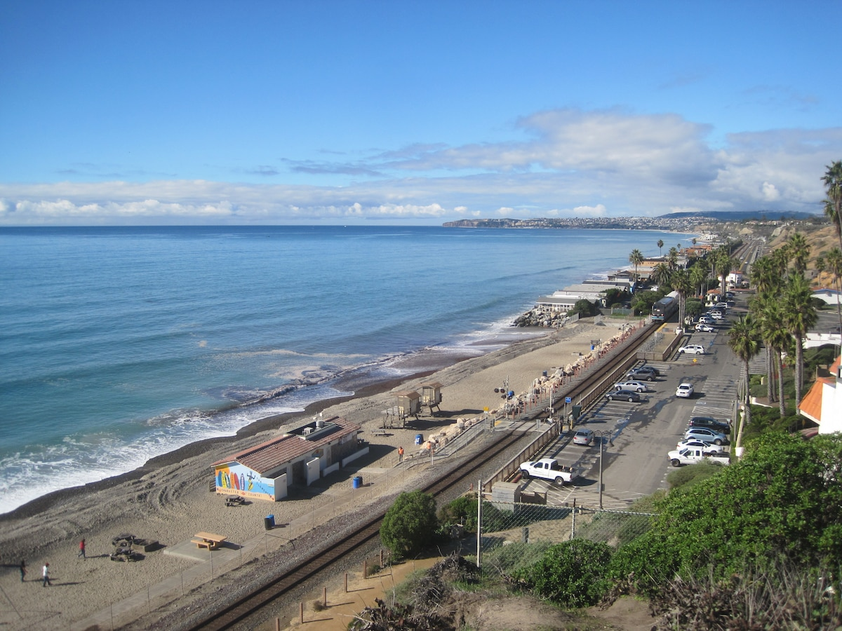 North Beach & Metrolink Station~San Clemente looking out to the Dana Point