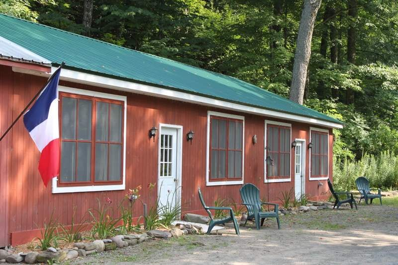 The Adirondack Cabin offers the comforts of home