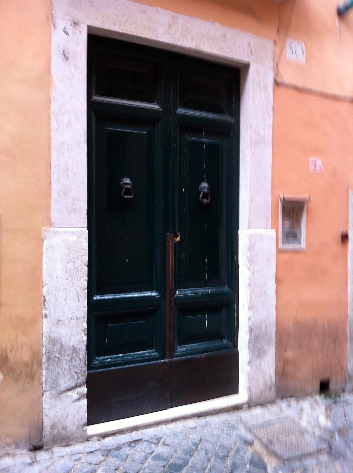 Building front door.
