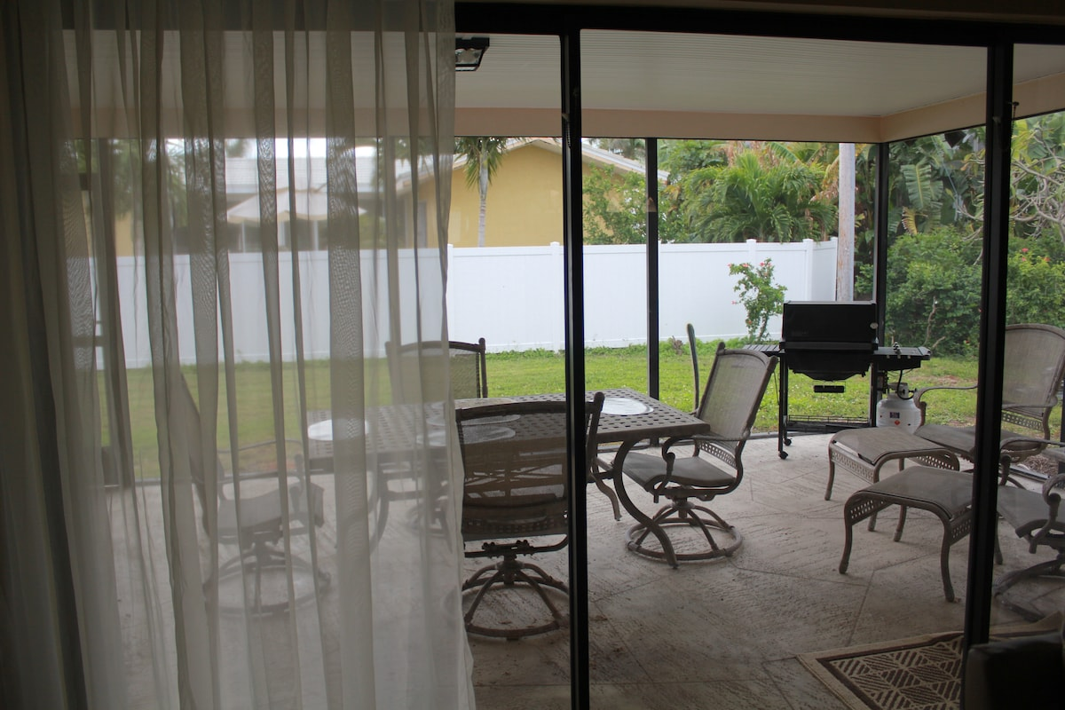 Lanai view from living room