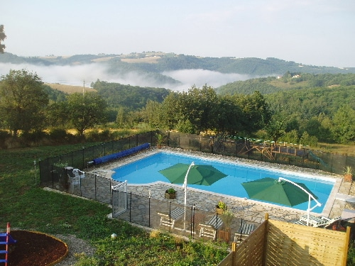 A pool with a view (pool is open for swimming from around April to October - weather dependent)