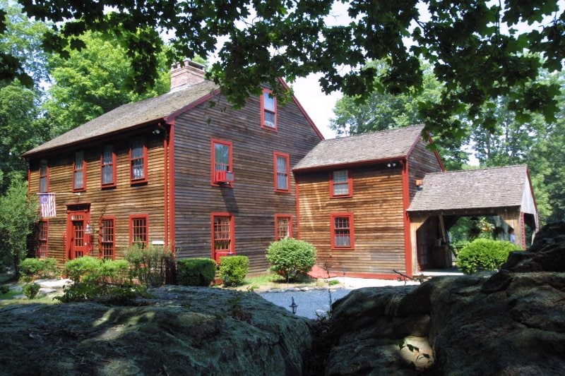 The inn in the summer months.