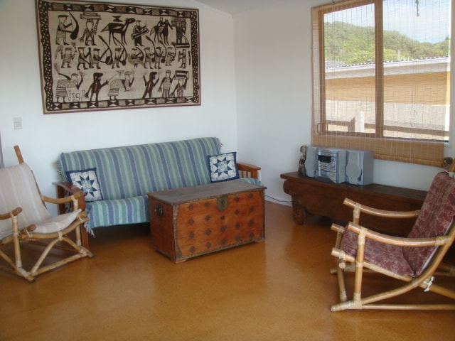 Bungalow 2, partial view of lounge.