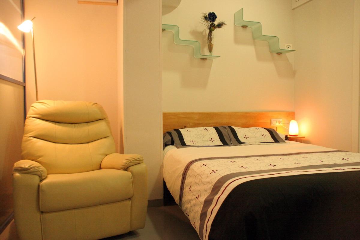 Acogedor dormitorio para dos personas