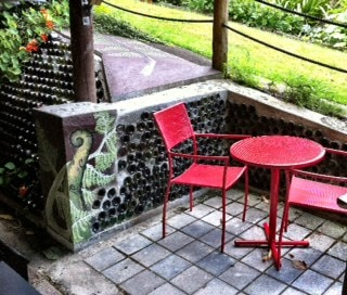 outdoor eating area & BBQ