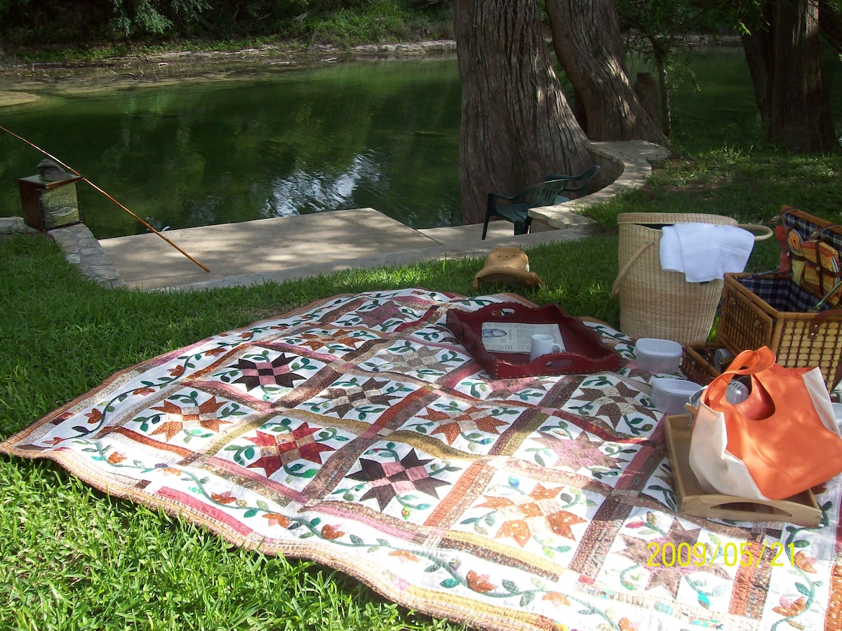 Swim, fish, picnic and take it easy.  Ramsay House B&B is one of the deepest swimming holes in Wimberley!