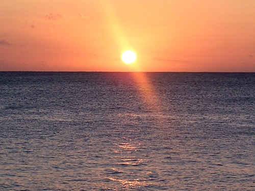 Typical sunset at Sanddollar Vanuatu Holiday Rentals - everyday its different.