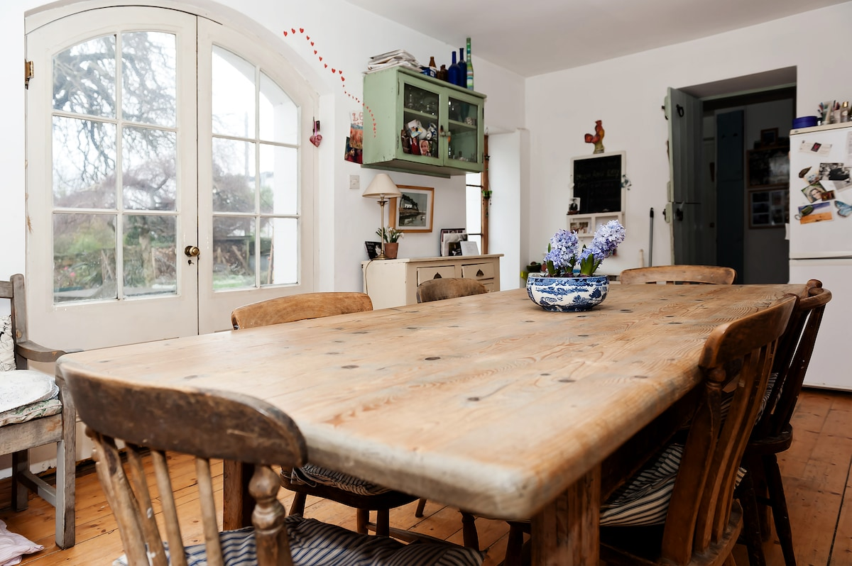 The kitchen table, at the heart of the house.