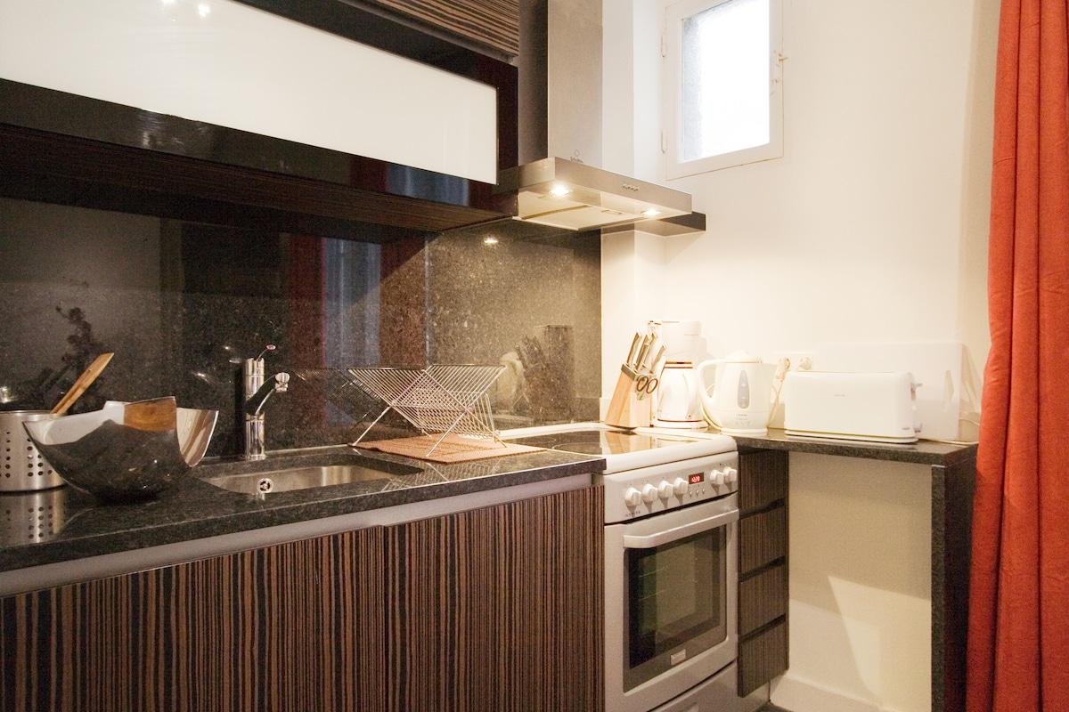 cuisine tout équipée / fully equiped kitchen