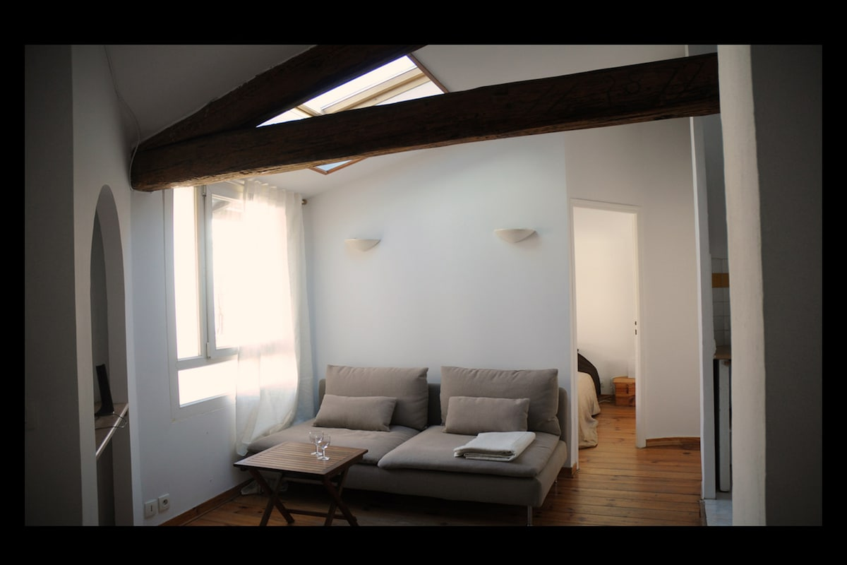 Welcome in your charming, cozy, quiet and central 2 room home in Montpellier
