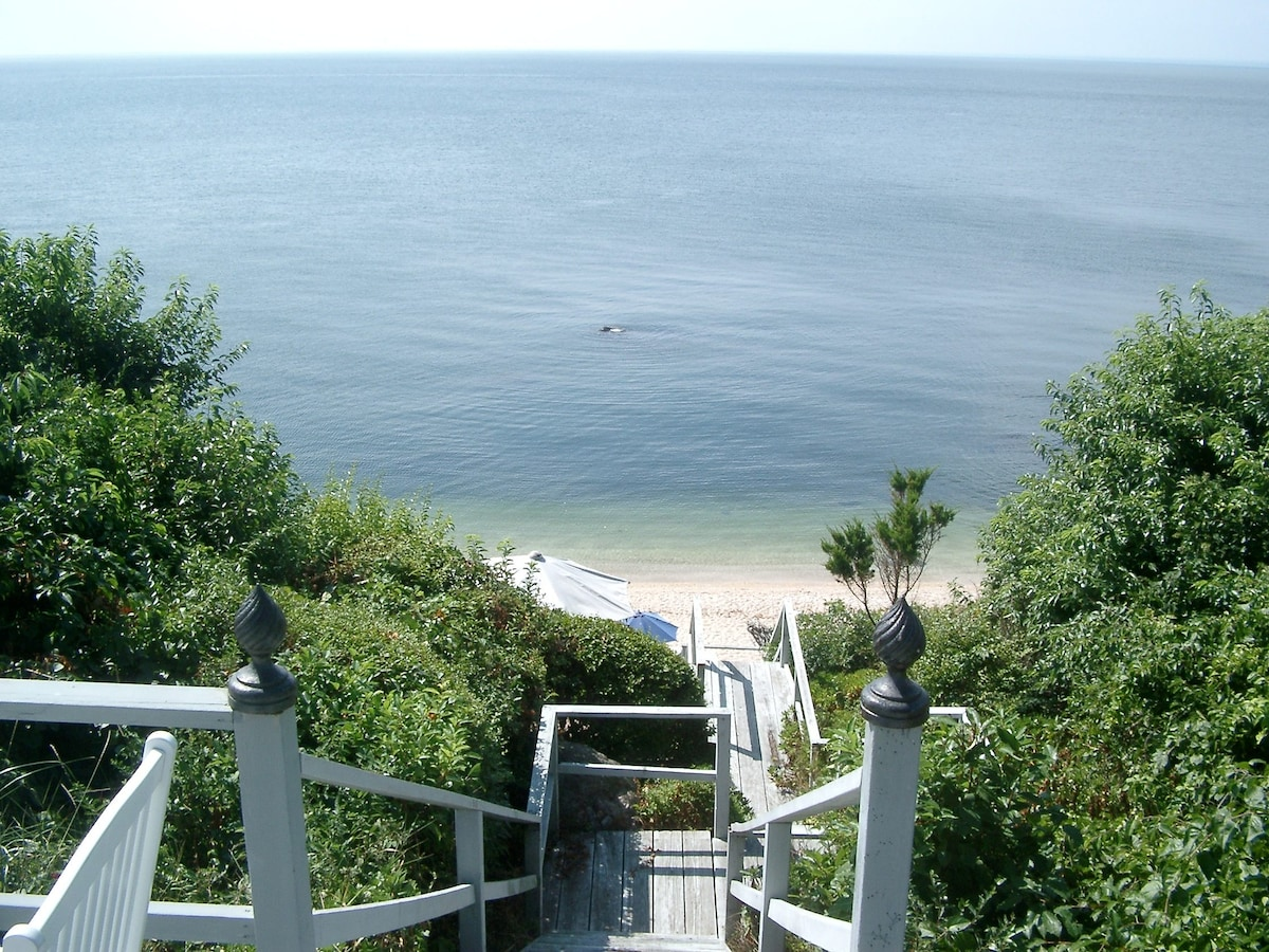 Stairs to your private beach