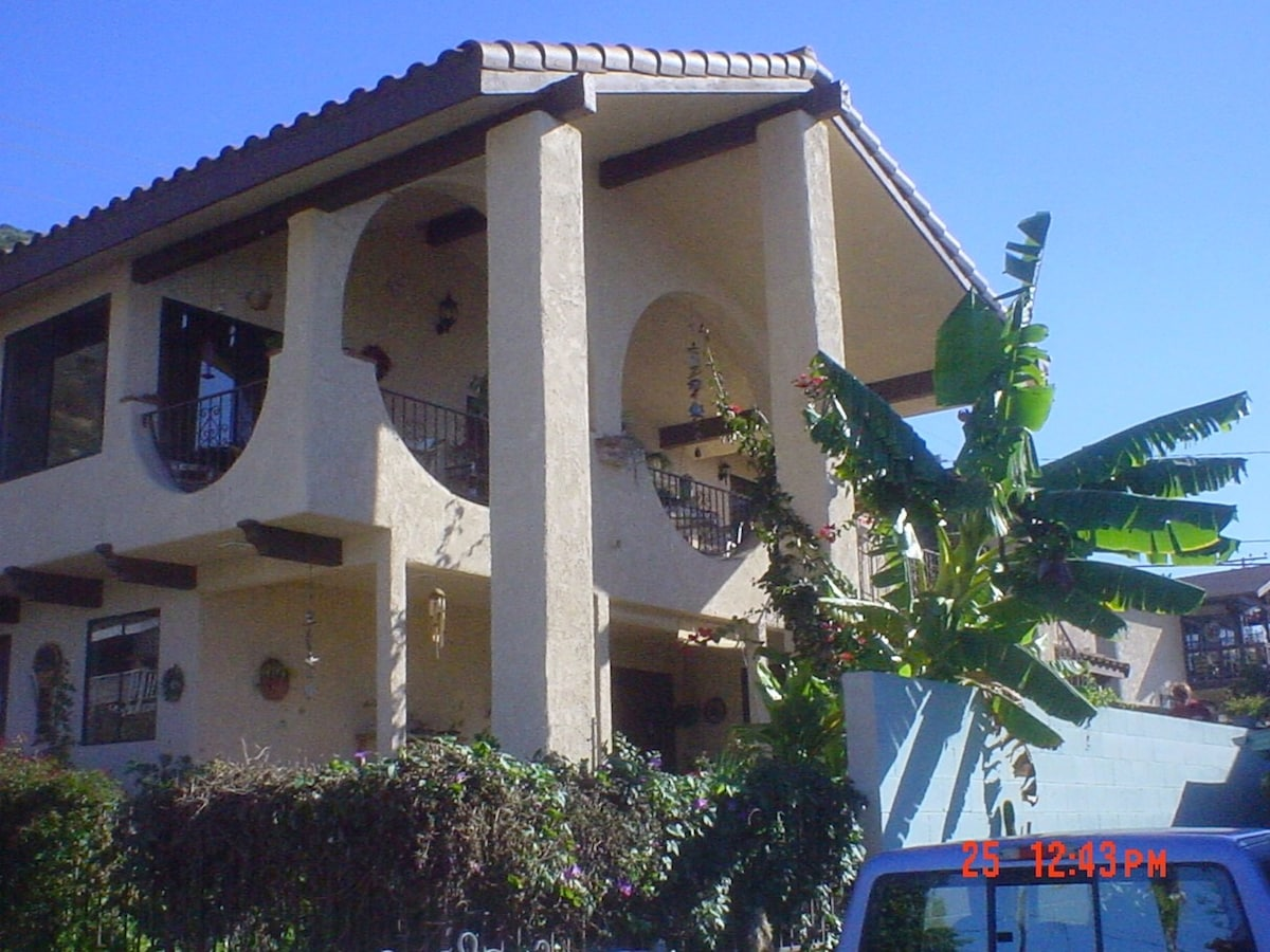 """""""Casa Makai"""", our home is one of the largest beach houses in La Conchita. Once a duplex, we retained the downstairs apartment, which has access to a meditation garden, pond and porch w/ocean view. Breakfast served upstairs w/ocean & mountain views!"""