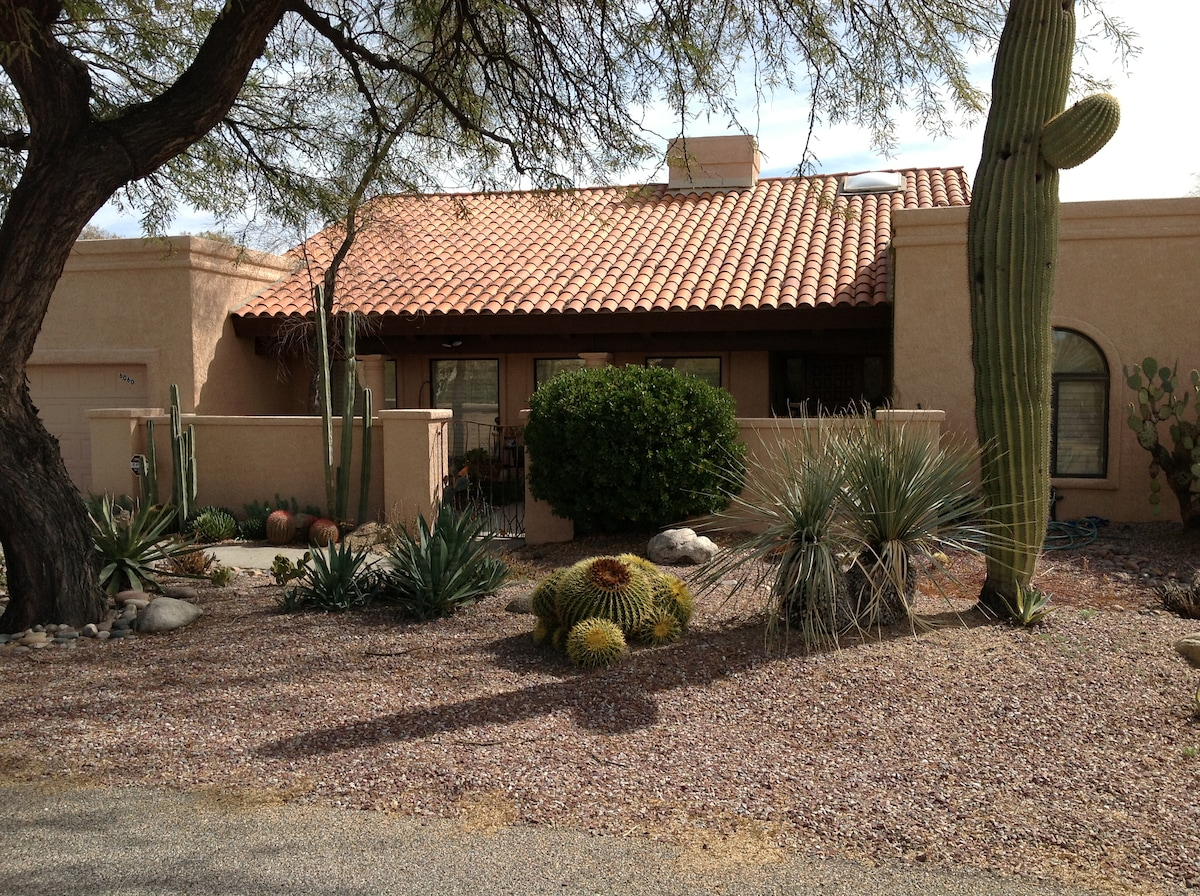 Tucson foothills home on one acre.