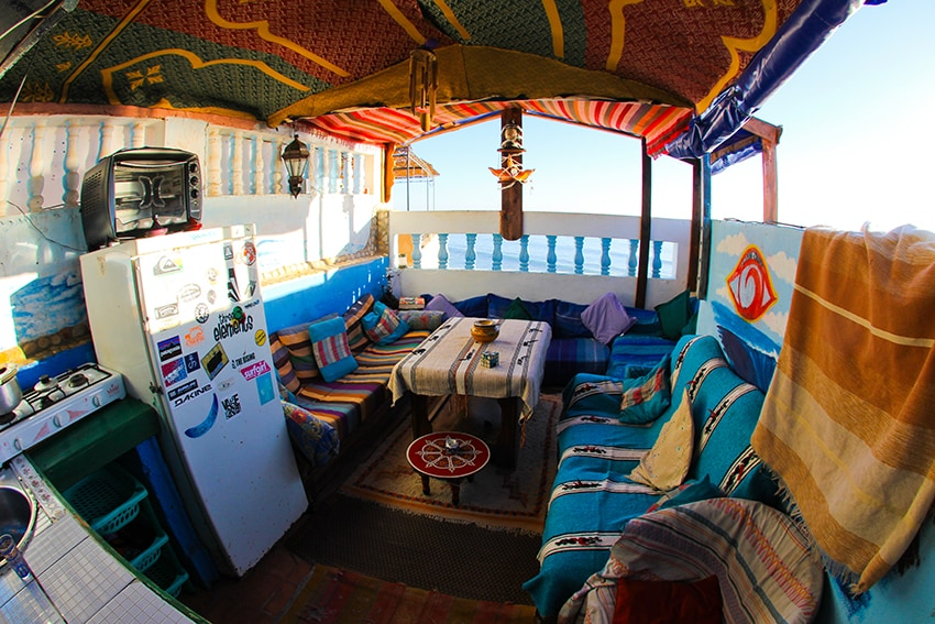 The terrace in the main OceanSurfHouse, just a few doors down.All guests are welcome to hang out here!