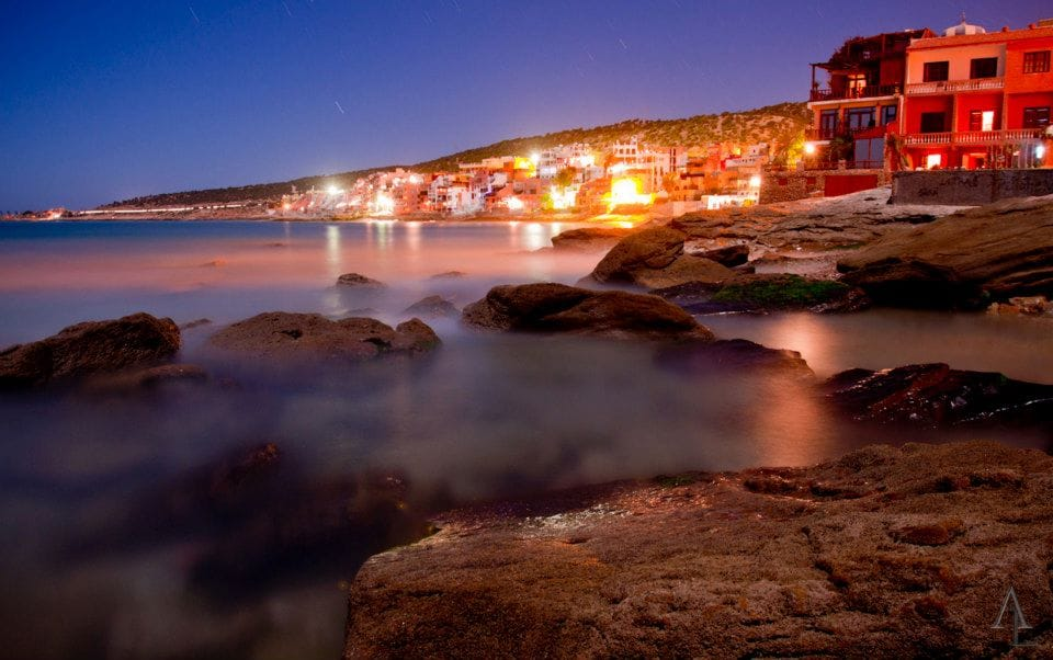 Taghazout at night