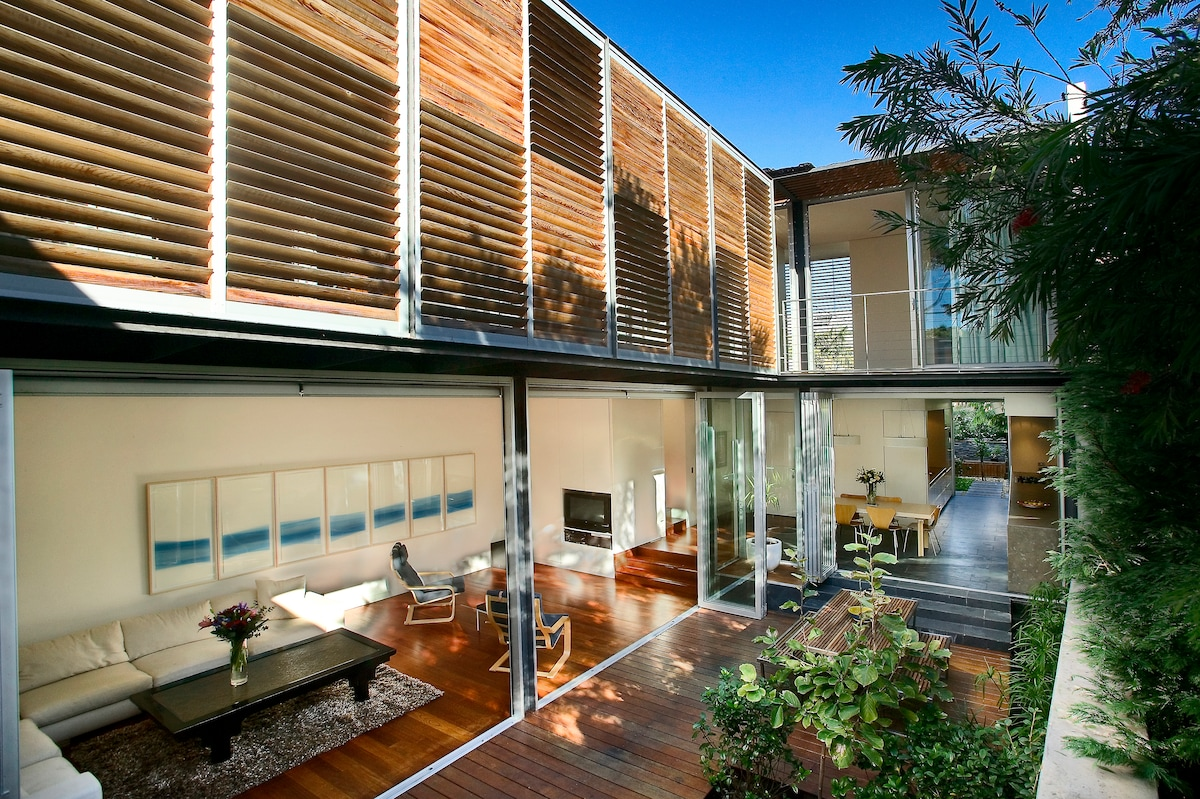 Living, Dining and Main Courtyard