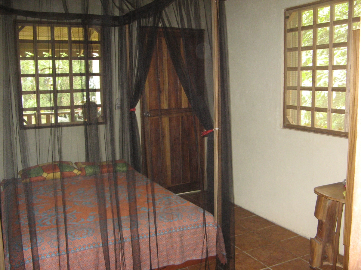 Second bedroom/study with direct access to deck, bath, and shower.