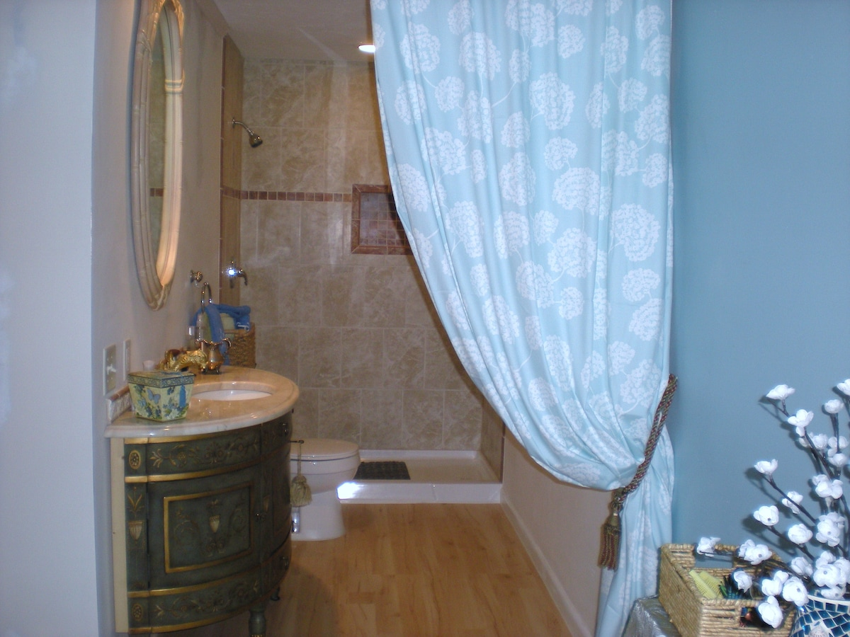 Your private new bathroom.