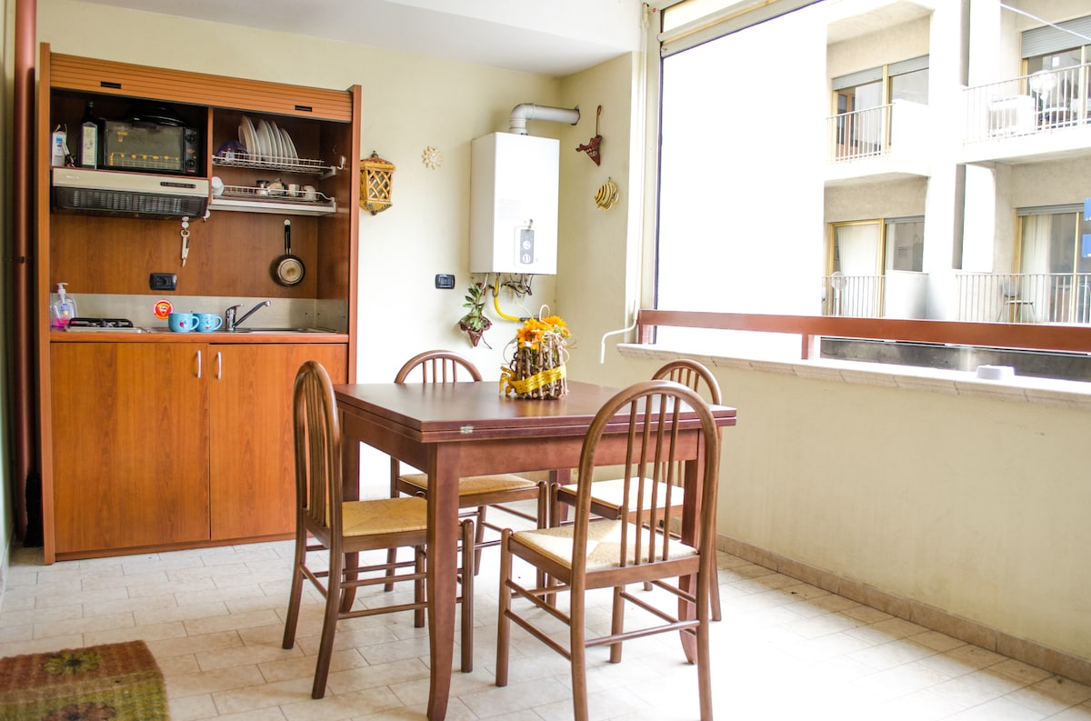 Central apartment with kitchen 4bed