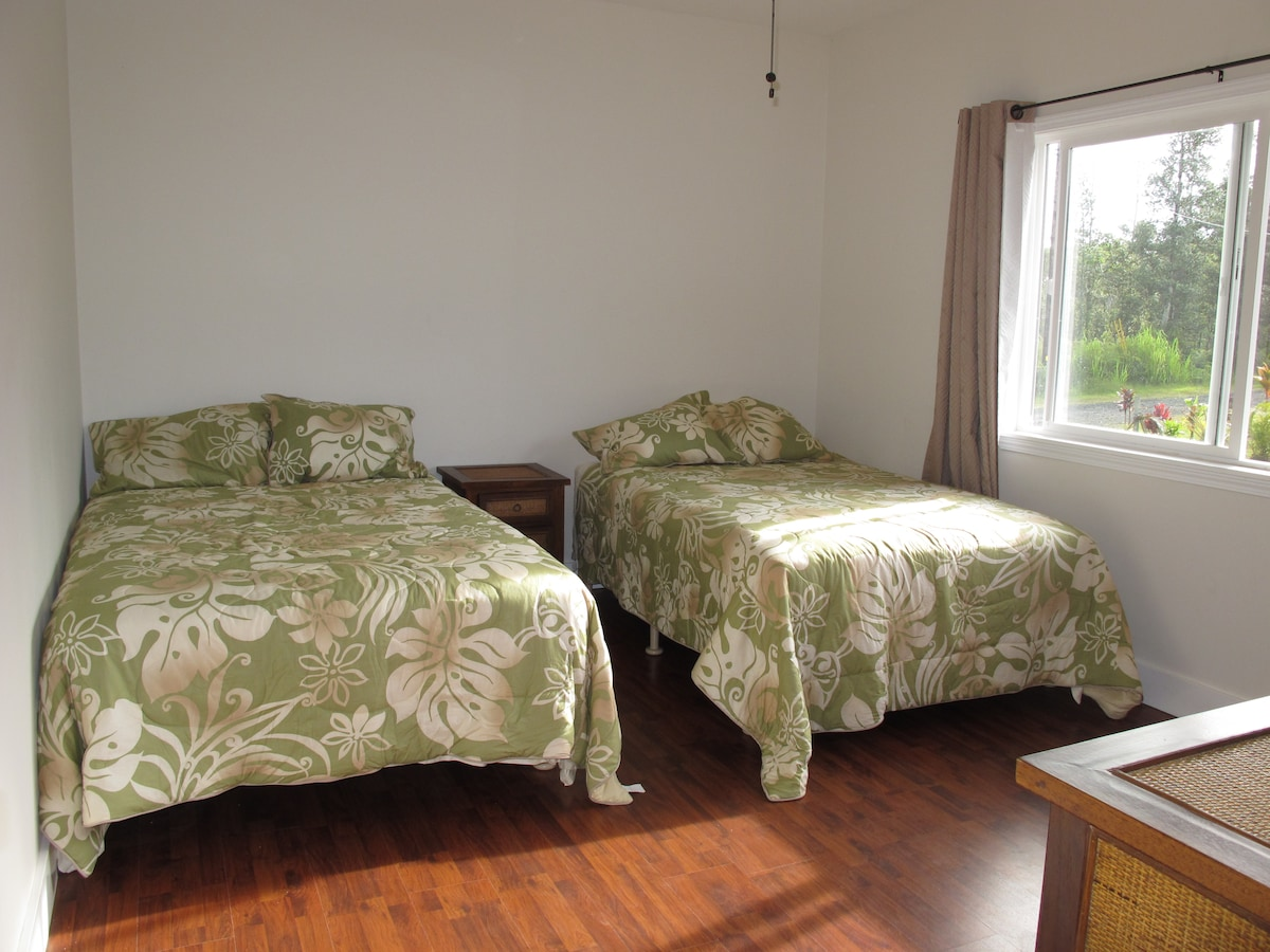 2 Full size beds in 2 bedroom house