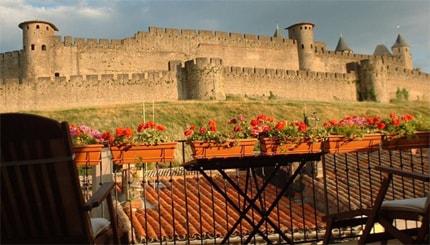 vue sur les remparts  de la chambre florentine