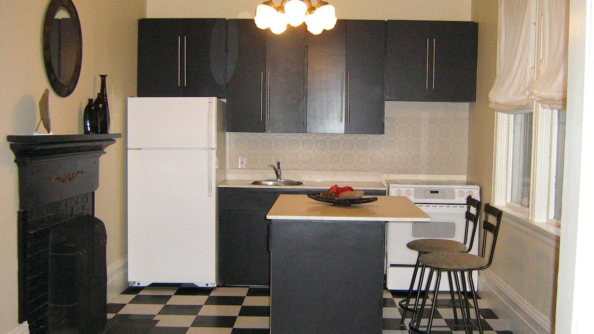 Warm and sunny kitchen